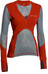 Klättermusen W's Grid Net Sweater Molten Lava